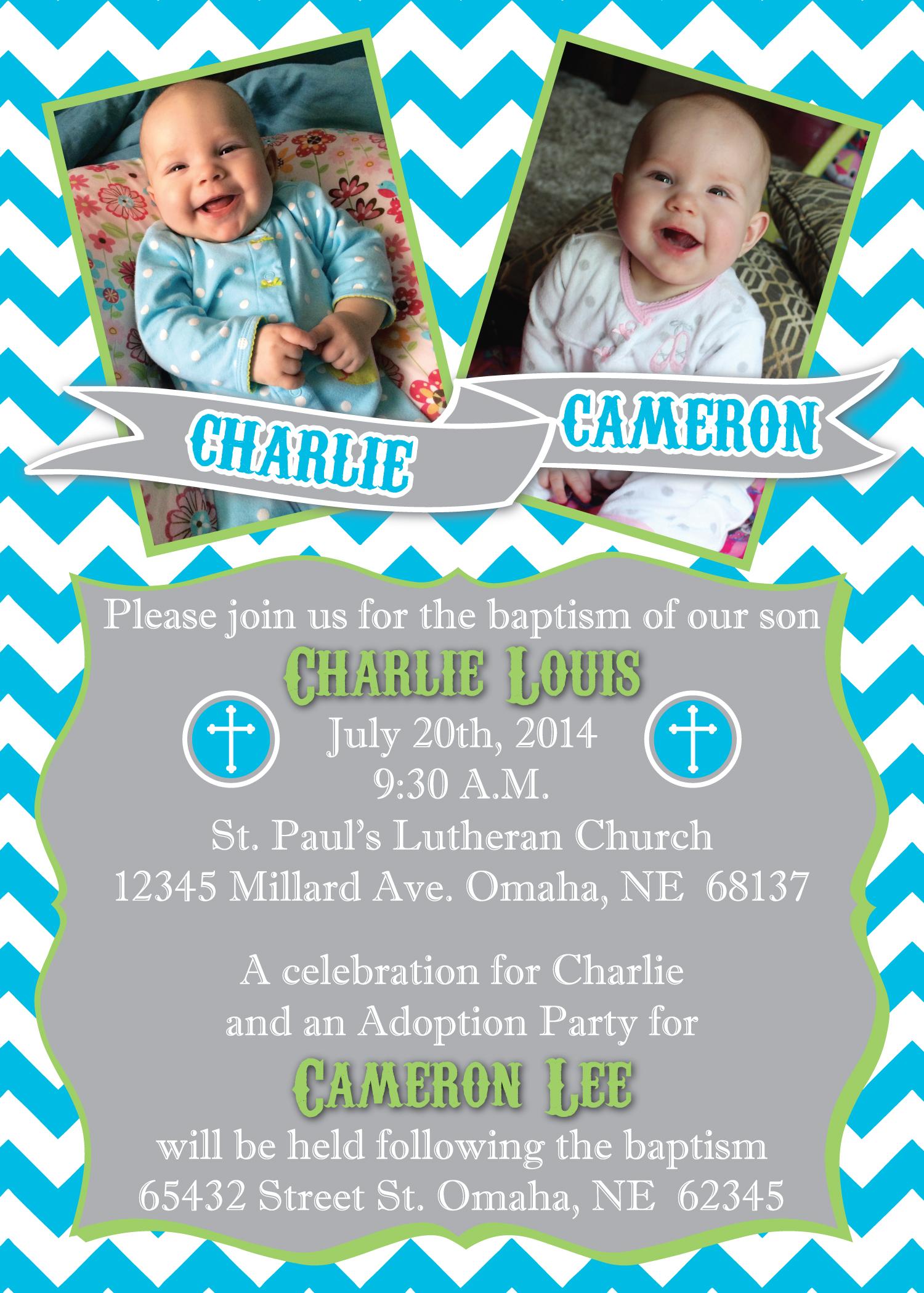 Baptism Invitations Email